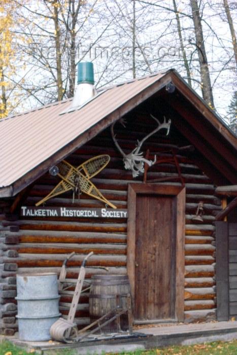 alaska26: Alaska - Talkeetna: Headquarters of the Talkeetna Historical Society (photo by F.Rigaud) - (c) Travel-Images.com - Stock Photography agency - Image Bank