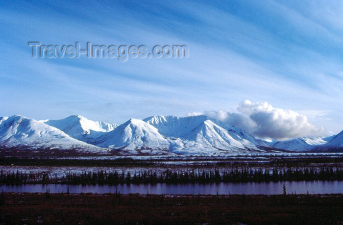 alaska30: Alaska - Anchorage: mountain range - Chugach Mountains - photo by F.Rigaud - (c) Travel-Images.com - Stock Photography agency - Image Bank
