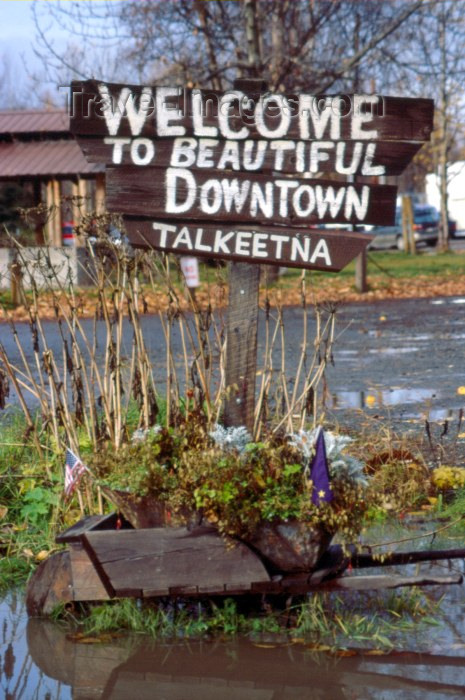 alaska39: Alaska - Talkeetna: downtown (photo by F.Rigaud) - (c) Travel-Images.com - Stock Photography agency - Image Bank