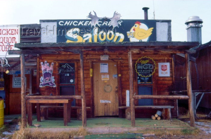 alaska42: Alaska - Chicken: Chicken Creek saloon - photo by F.Rigaud - (c) Travel-Images.com - Stock Photography agency - Image Bank