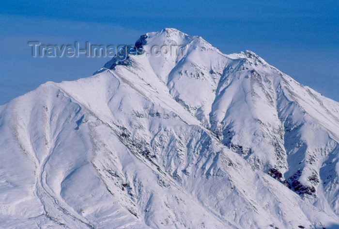 alaska46: Alaska - Anchorage: mountain top - peak in the Chugach Mountains - acme - photo by F.Rigaud - (c) Travel-Images.com - Stock Photography agency - Image Bank