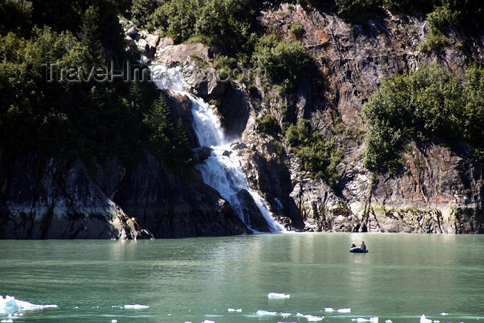 alaska59: Alaska's Inside Passage - Tracy Arm Fjord: waterfall (photo by Robert Ziff) - (c) Travel-Images.com - Stock Photography agency - Image Bank