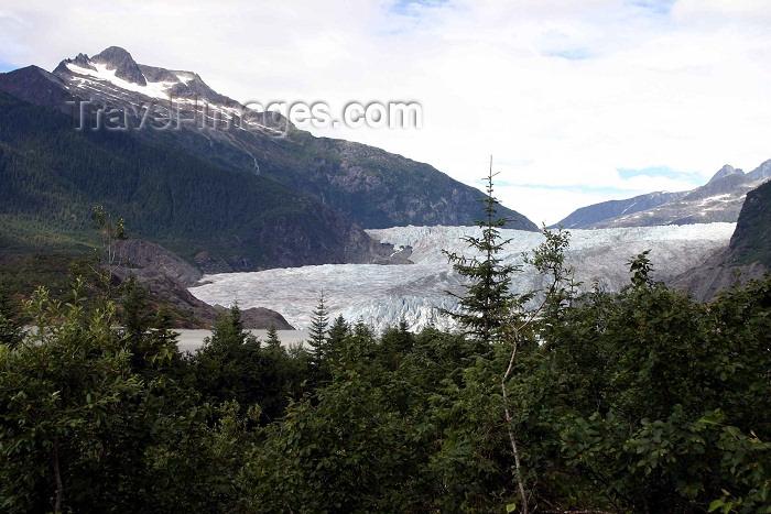 alaska78: Alaska - Juneau: Mendenhall Glacier (photo by Robert Ziff) - (c) Travel-Images.com - Stock Photography agency - Image Bank