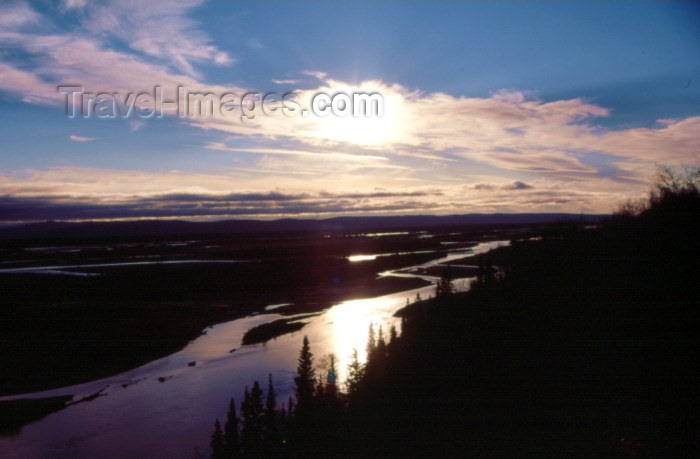 alaska8: Alaska - Chicken: sunset - photo by F.Rigaud - (c) Travel-Images.com - Stock Photography agency - Image Bank