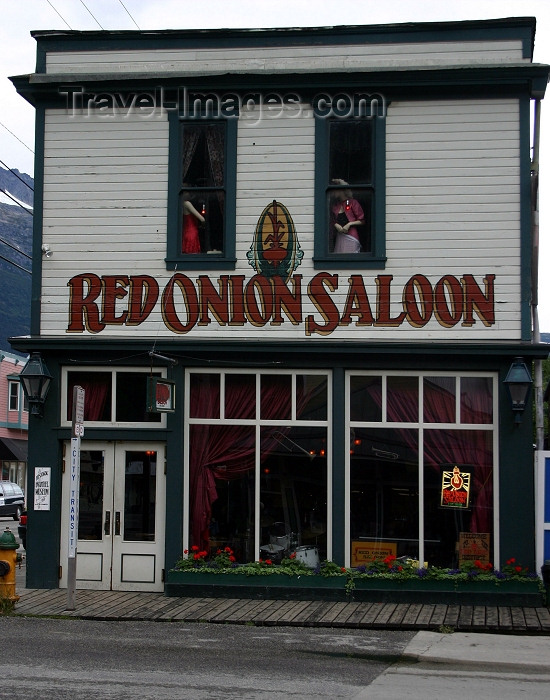 alaska96: Alaska - Skagway: Red Onion saloon (photo by Robert Ziff) - (c) Travel-Images.com - Stock Photography agency - Image Bank