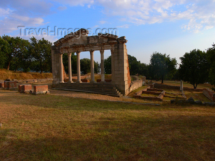 albania107: Apollonia, Fier County, Albania: Agonothetes portico - Archaeological site of Apolonia - photo by J.Kaman - (c) Travel-Images.com - Stock Photography agency - Image Bank