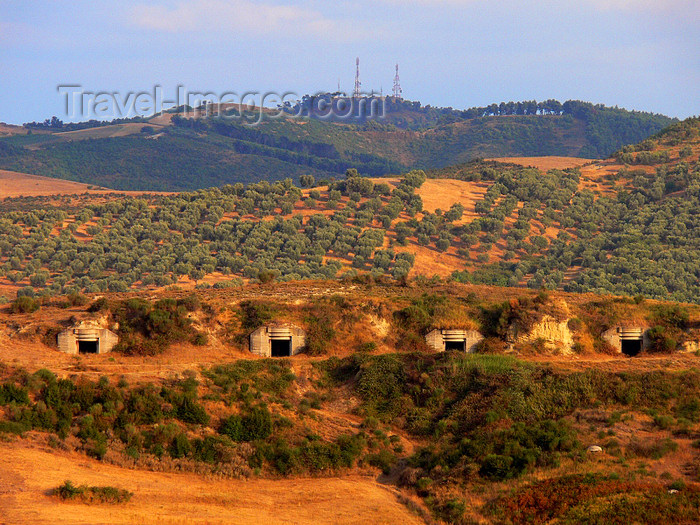 albania109: Apollonia, Fier County, Albania: bunkers near the archeological site - photo by J.Kaman - (c) Travel-Images.com - Stock Photography agency - Image Bank