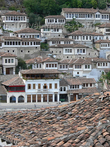 albania113: Berat, Albania: typical architecture in the UNESCO World Heritage City of Berat - photo by J.Kaman - (c) Travel-Images.com - Stock Photography agency - Image Bank