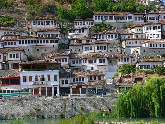 albania116: Berat, Albania: known to Albanians as 'The City of a Thousand Windows' - photo by J.Kaman - (c) Travel-Images.com - Stock Photography agency - Image Bank