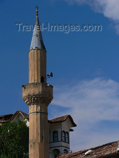 albania118: Berat, Albania: minaret in Enver Hoxha's 'Museum city' - photo by J.Kaman - (c) Travel-Images.com - Stock Photography agency - Image Bank