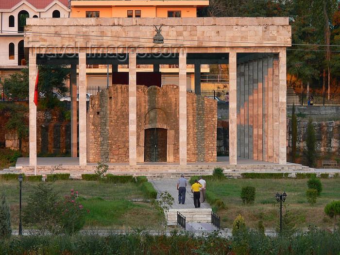 albania129: Lezhë, Albania: Skanderbeg tomb and mausoleum - photo by J.Kaman - (c) Travel-Images.com - Stock Photography agency - Image Bank