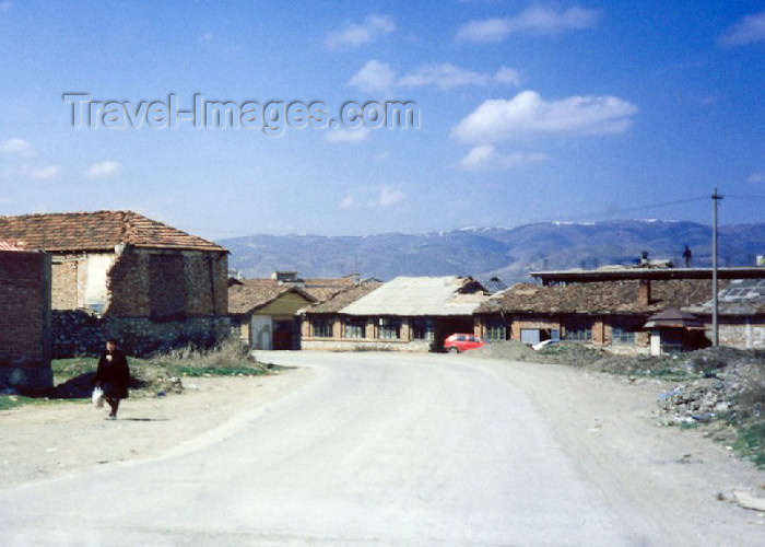 albania13: Albania / Shqiperia - Progër, Korçë county: main street - photo by M.Torres - (c) Travel-Images.com - Stock Photography agency - Image Bank