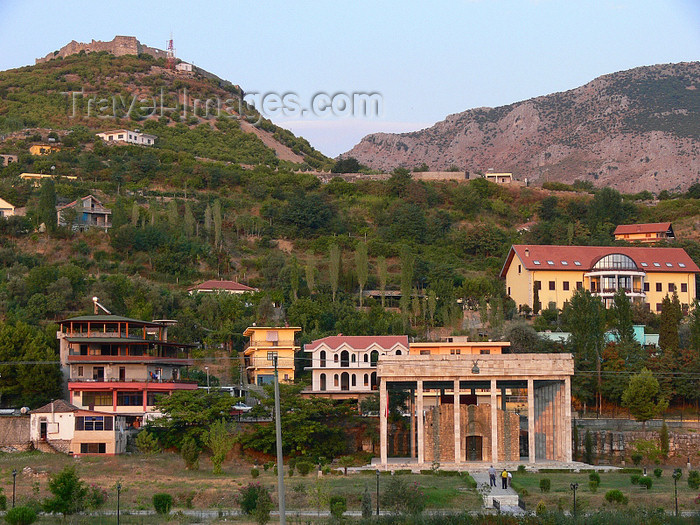 albania130: Lezhë, Albania: hills and Skanderbeg mausoleum - photo by J.Kaman - (c) Travel-Images.com - Stock Photography agency - Image Bank