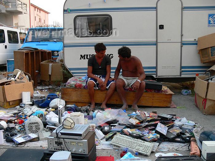 albania131: Shengjin, Lezhë county, Albania: Albanian Gypsies in junk paradise - photo by J.Kaman - (c) Travel-Images.com - Stock Photography agency - Image Bank
