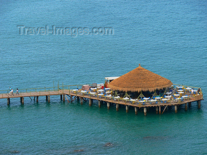 albania133: Vlorë, Albania: pleasure pier with landing Jetty - Adriatic sea resort - photo by J.Kaman - (c) Travel-Images.com - Stock Photography agency - Image Bank