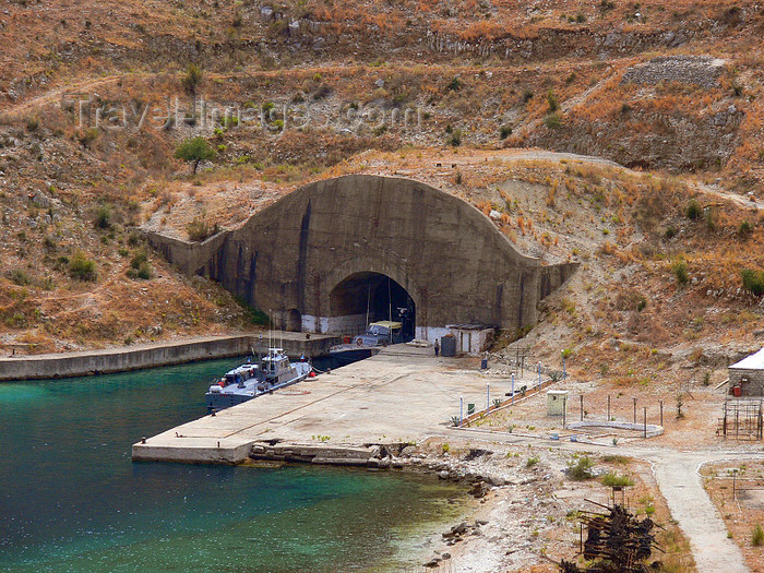 albania138: Vlorë county, Albania: boat bunker between Dhermi and Qeparo - photo by J.Kaman - (c) Travel-Images.com - Stock Photography agency - Image Bank