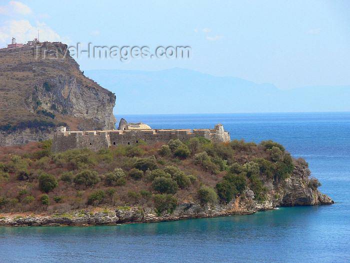 albania139: Vlorë county, Albania:, Albania: coatal fortress between Dhermi and Qeparo - photo by J.Kaman - (c) Travel-Images.com - Stock Photography agency - Image Bank