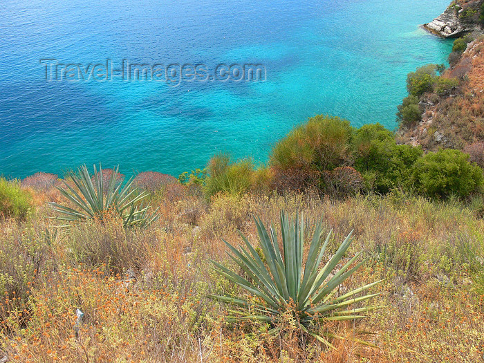 albania140: Vlorë county, Albania: the Adriatic coast - landscape between Dhermi and Qeparo - photo by J.Kaman - (c) Travel-Images.com - Stock Photography agency - Image Bank