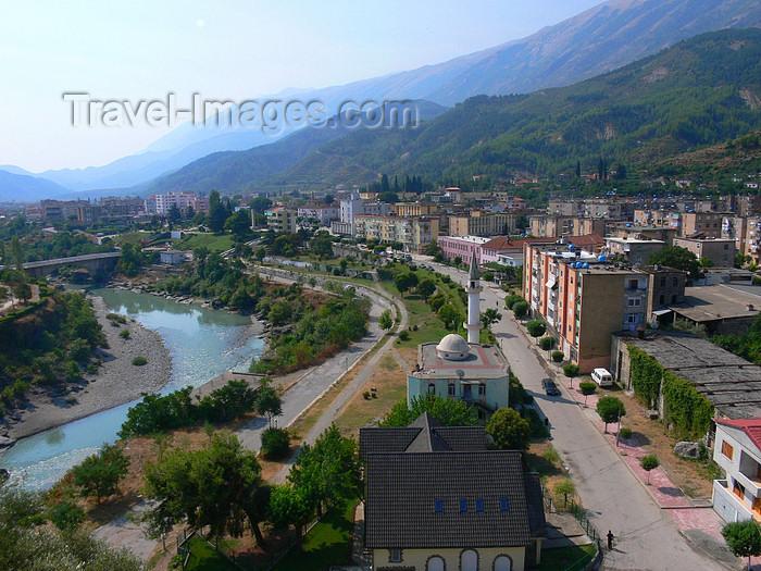 albania158: Përmet, Gjirokastër county, Albania: the town is built between the Vjosë river and the Mali i Dhëmbelit mountain - photo by J.Kaman - (c) Travel-Images.com - Stock Photography agency - Image Bank