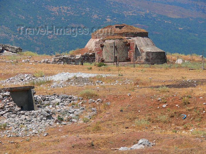 albania159: Leskovik, Kolonjë, Korçë county, Albania: concrete bunker - photo by J.Kaman - (c) Travel-Images.com - Stock Photography agency - Image Bank