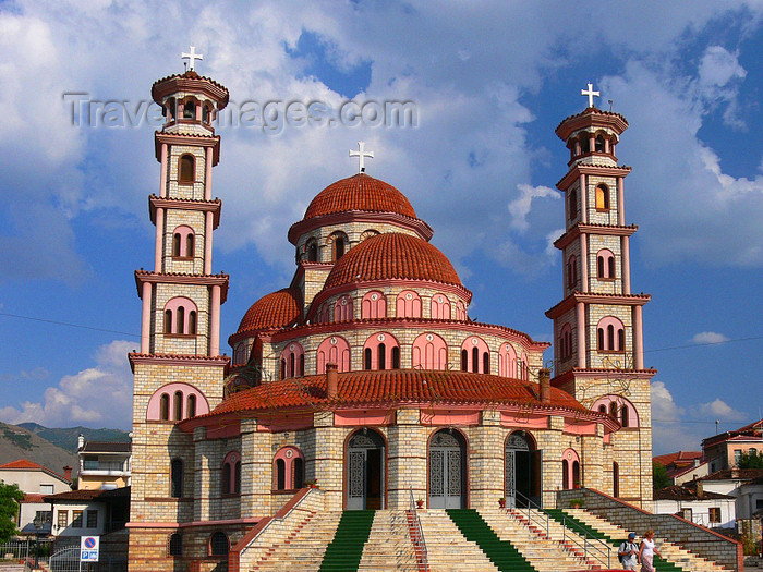 albania171: Korçë, Albania: Orthodox Cathedral of the Resurrection of Christ - from behind - photo by J.Kaman - (c) Travel-Images.com - Stock Photography agency - Image Bank