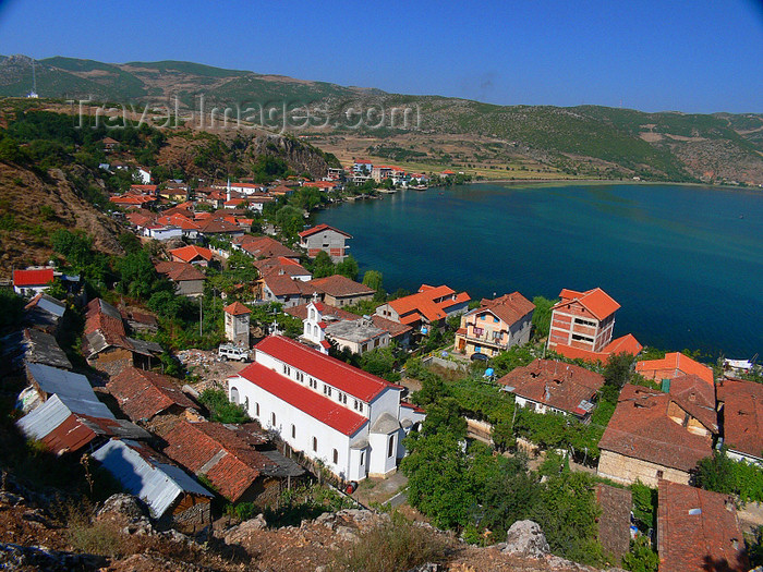 albania174: Lin, Pogradec, Korçë county, Albania: the town and lake Ohrid - photo by J.Kaman - (c) Travel-Images.com - Stock Photography agency - Image Bank