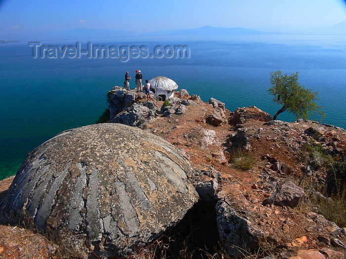 albania175: Lin, Pogradec, Korçë county, Albania: bunkers over lake Ohrid - photo by J.Kaman - (c) Travel-Images.com - Stock Photography agency - Image Bank