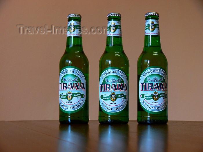 albania182: Albania: bottles of Albanian beer 'Tirana' - birra - photo by J.Kaman - (c) Travel-Images.com - Stock Photography agency - Image Bank