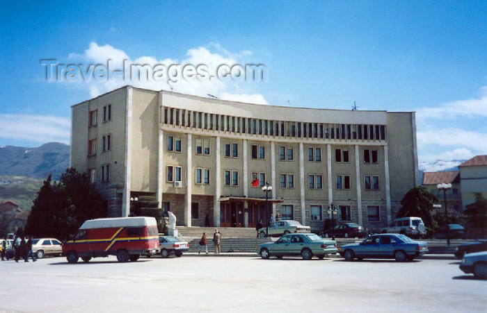 albania19: Albania / Shqiperia - Korçë / Korça / Korce: city administration - photo by M.Torres - (c) Travel-Images.com - Stock Photography agency - Image Bank
