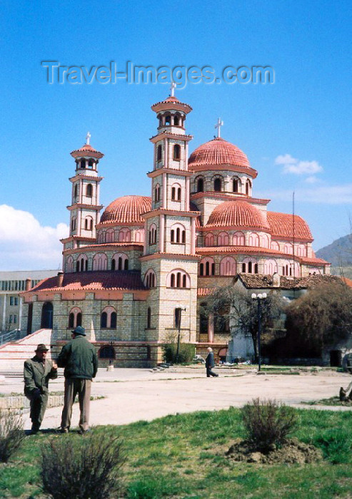 albania21: Albania / Shqiperia - Korçë / Korça / Korce: the Orthodox Cathedral of the Resurrection of Christ - religious architecture - photo by M.Torres - (c) Travel-Images.com - Stock Photography agency - Image Bank