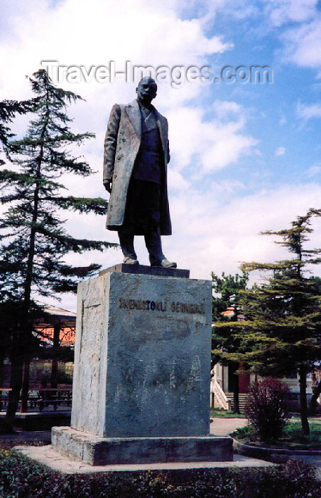 albania26: Albania / Shqiperia - Korçë / Korça / Korce: statue of Themistokli Germenji - Albanian politician and author - photo by M.Torres - (c) Travel-Images.com - Stock Photography agency - Image Bank