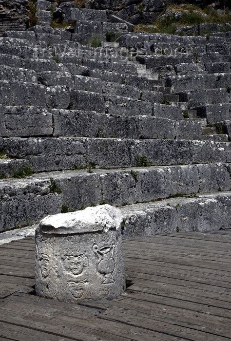 albania30: Butrint, Sarandë, Vlorë County, Albania: Roman theatre - UNESCO World Heritage Site - photo by A.Dnieprowsky - (c) Travel-Images.com - Stock Photography agency - Image Bank