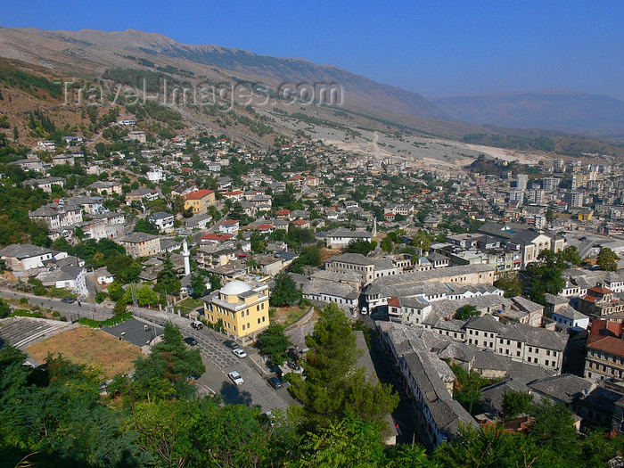 albania33: Gjirokaster, Albania: from above - view from the citadel - UNESCO World Heritage Site - photo by J.Kaman - (c) Travel-Images.com - Stock Photography agency - Image Bank