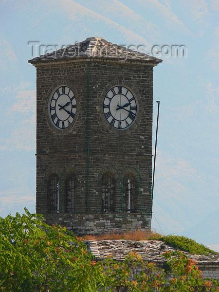 albania34: Gjirokaster, Albania: clock tower - photo by J.Kaman - (c) Travel-Images.com - Stock Photography agency - Image Bank