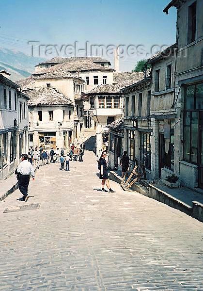 albania41: Albania / Shqiperia - Gjirokaster / Gjirokastra: street scene - old Ottoman town - Unesco world heritage list - photo by J.Kaman - (c) Travel-Images.com - Stock Photography agency - Image Bank