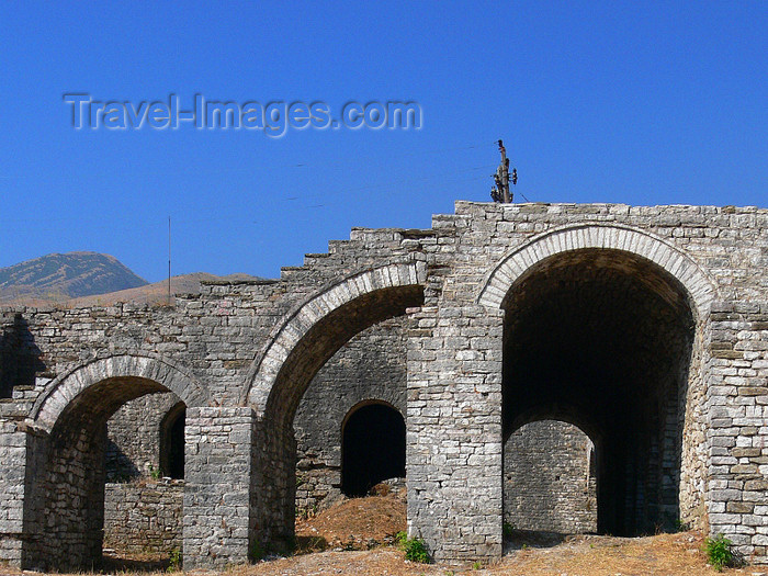 albania42: Gjirokaster, Albania: rampart ruins - photo by J.Kaman - (c) Travel-Images.com - Stock Photography agency - Image Bank