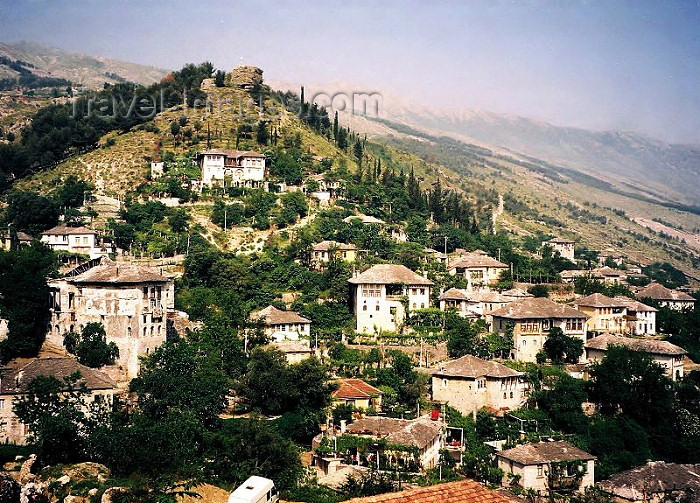 albania44: Albania / Shqiperia - Gjirokaster: under the hill - Unesco world heritage list - photo by J.Kaman - (c) Travel-Images.com - Stock Photography agency - Image Bank