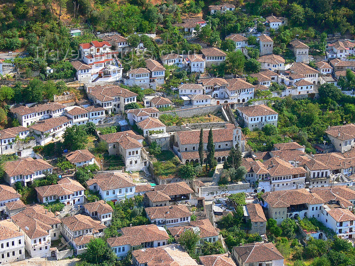 albania45: Berat, Albania: red roofs - church and surrounding houses - UNESCO world heritage - photo by J.Kaman - (c) Travel-Images.com - Stock Photography agency - Image Bank