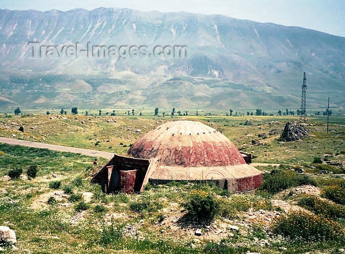 albania46: Albania / Shqiperia - Berat province: bunker and mountains - photo by J.Kaman - (c) Travel-Images.com - Stock Photography agency - Image Bank