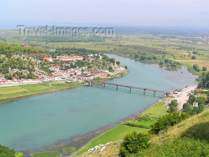 albania50: Albania / Shqiperia - Shkodër/ Shkoder / Shkodra: Kir river from Rozafa - photo by J.Kaman - (c) Travel-Images.com - Stock Photography agency - Image Bank