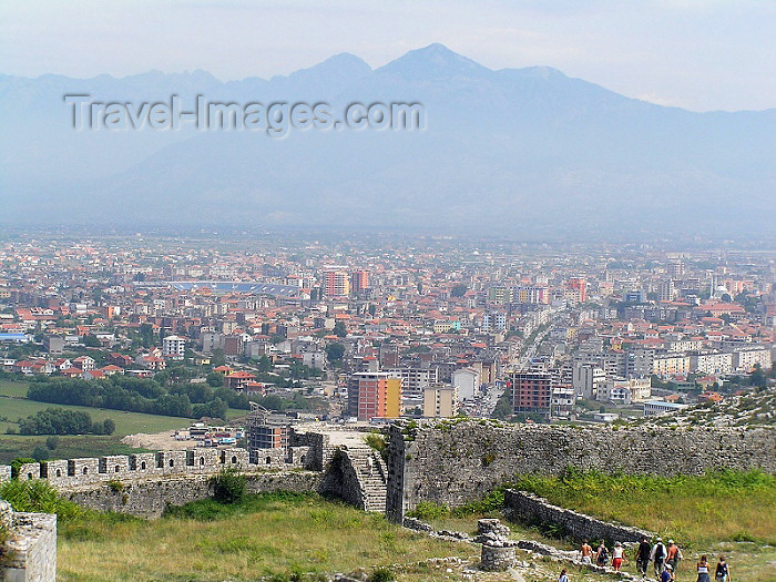 albania52: Albania / Shqiperia - Shkodër/ Shkoder / Shkodra: the city from the fortress / castle - photo by J.Kaman - (c) Travel-Images.com - Stock Photography agency - Image Bank