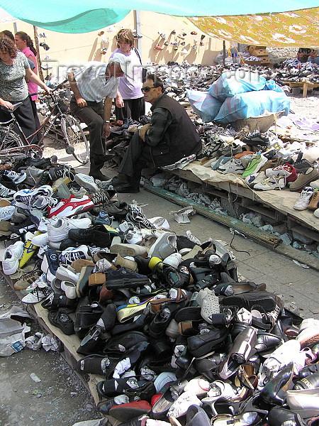 albania59: Albania / Shqiperia - Shkodër/ Shkoder / Shkodra: shoe market - photo by J.Kaman - (c) Travel-Images.com - Stock Photography agency - Image Bank