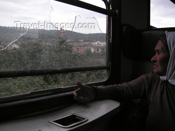 albania61: Albania: on the train - photo by A.Kilroy - (c) Travel-Images.com - Stock Photography agency - Image Bank