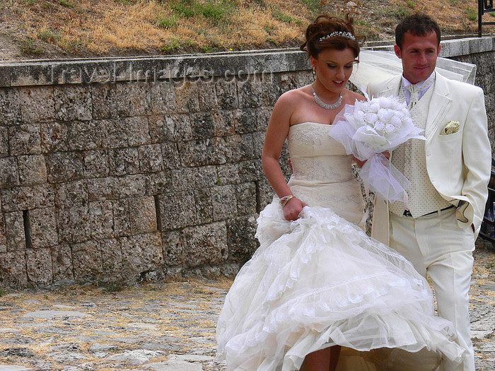 albania76: Kruje, Durres County, Albania: Albanian wedding - bride and groom - photo by J.Kaman - (c) Travel-Images.com - Stock Photography agency - Image Bank