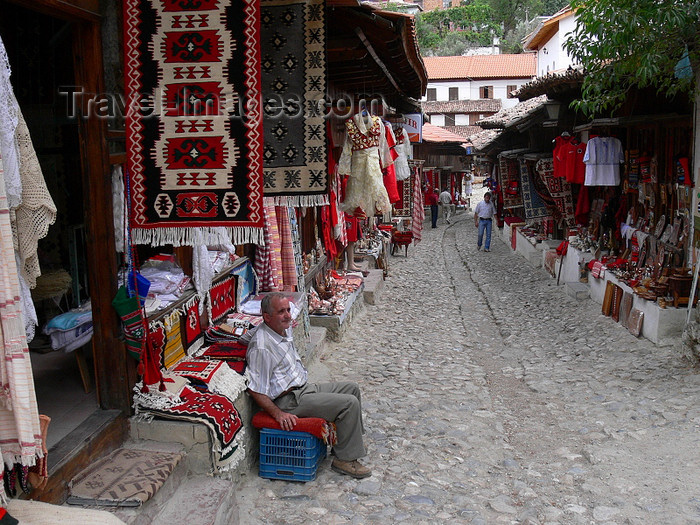 albania85: Kruje, Durres County, Albania: narrow street in the old bazar - market - photo by J.Kaman - (c) Travel-Images.com - Stock Photography agency - Image Bank