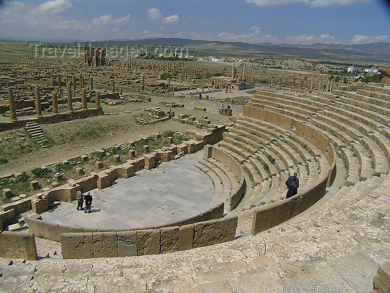algeria150: Algeria / Algerie - Timgad: the Roman theatre - UNESCO World Heritage - photo by J.Kaman - théâtre romain - (c) Travel-Images.com - Stock Photography agency - Image Bank