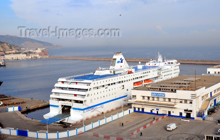 algeria186: Oran, Algeria / Algérie: harbor - Bassin d'Arzew - Alicante ferry El Djazair II and Harbour Station - photo by M.Torres | le port - Bassin d'Arzew - ferry pour Alicante, l'El Djazair II - Gare Maritime - (c) Travel-Images.com - Stock Photography agency - Image Bank