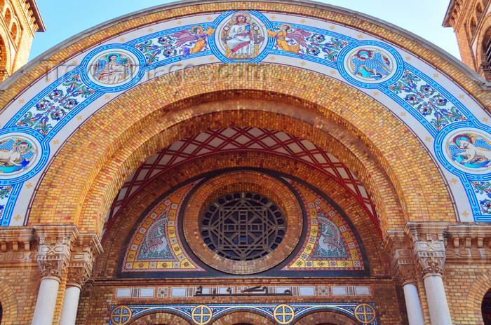 algeria215: Oran, Algeria / Algérie: Cathedral of the Sacred Heart of Jesus Christ - vault and rose window - photo by M.Torres | Cathédrale du Sacré Coeur de Jesus - voûte et rosace - (c) Travel-Images.com - Stock Photography agency - Image Bank