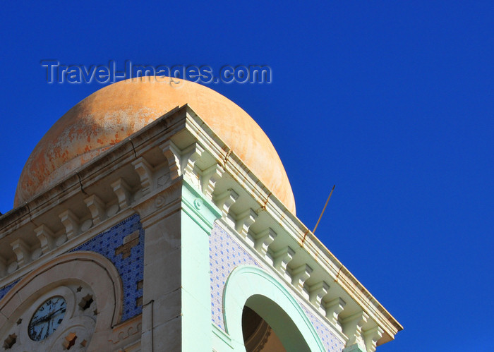 algeria261: Biskra, Algeria / Algérie: detail of the bell tower of the old city hall - photo by M.Torres | détail du clocher de l'ancien hôtel de ville - (c) Travel-Images.com - Stock Photography agency - Image Bank
