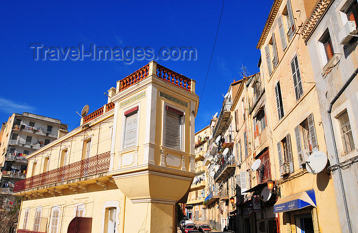 algeria317: Algeria / Algérie - Béjaïa / Bougie / Bgayet - Kabylie: colonial building with bartizan | immeuble colonial avec échauguette - photo by M.Torres - (c) Travel-Images.com - Stock Photography agency - Image Bank